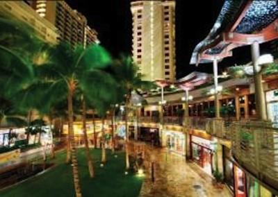 Waikiki Beach Walk at Night