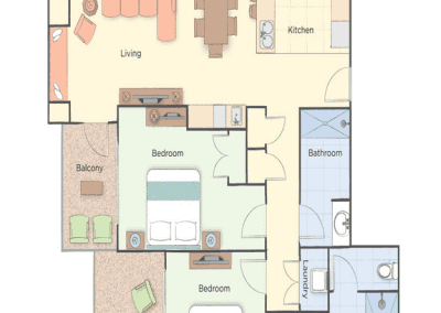 2B Presidential Floor Plan