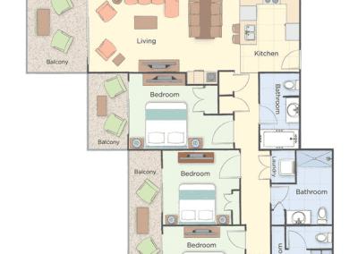 3B Presidential Floor Plan