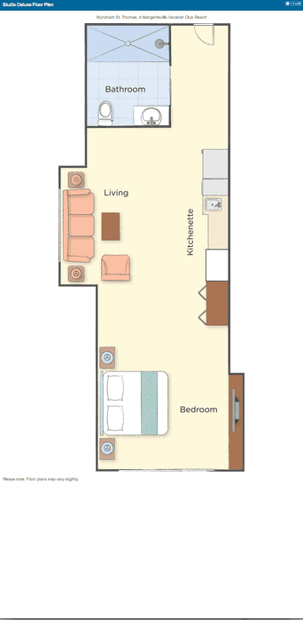 Studio Deluxe Floor Plan