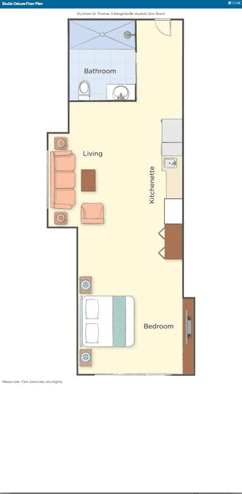 Studio Deluxe Floor Plan