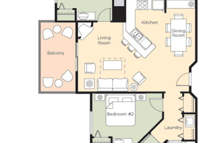 Glacier Canyon 3B Floor Plan