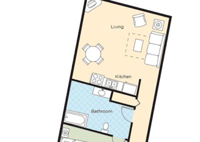 Floor Plan 1B Riverside