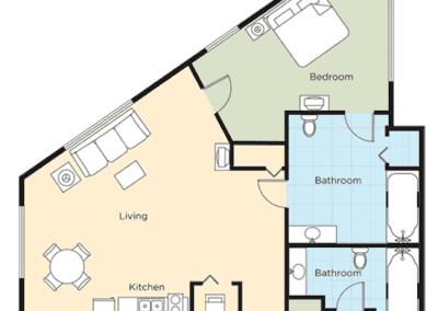 Floor Plan 2B Riverside