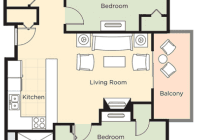 Park City 2B Floor Plan