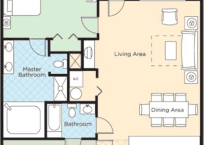 King Cotton Villas 2B Floor Plan