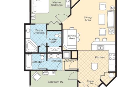 Pagosa Springs 2B Floor Plan