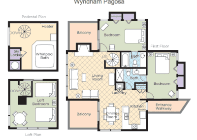 Pagosa Springs 2B Loft Floor Plan