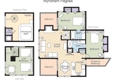 Pagosa Springs 2B Loft Floor Plan