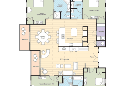 Pagosa Springs 4B Pres Floor Plan